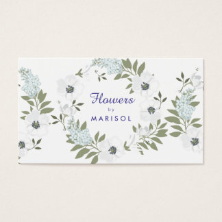 Floral Designer Florist Business Card Template