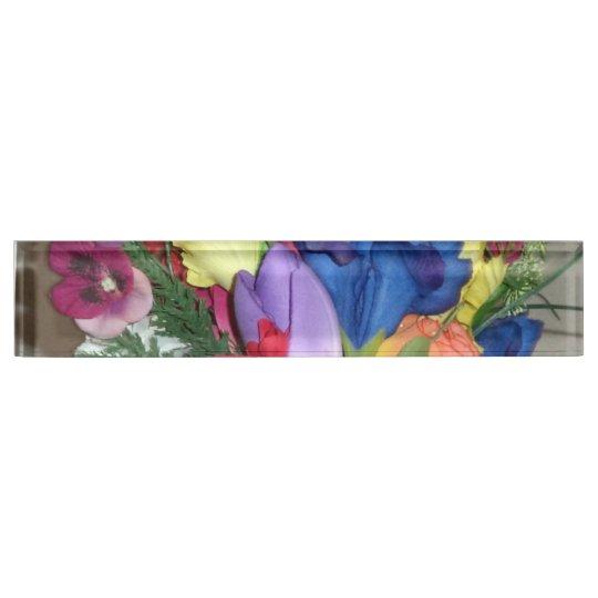 Floral Desk Nameplate