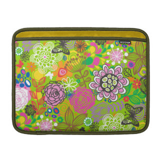 Floral Doodle Pattern Sleeve For MacBook Air