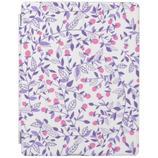 Floral doodles pink and violet iPad cover