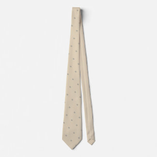 Floral Dotted Print on Tan Tie by Delynn Addams