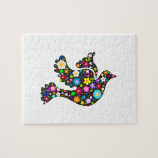 Floral Dove of flowers Jigsaw Puzzle