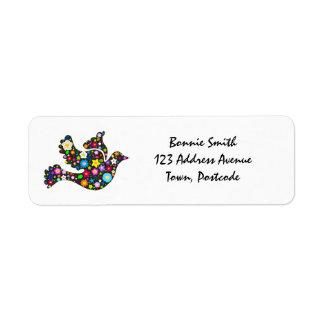 Floral Dove of flowers Return Address Label