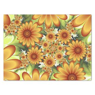 Floral Dream, Modern Abstract Flower Fractal Art Tissue Paper