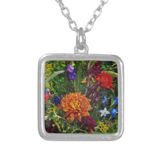 Floral Dream OF August Silver Plated Necklace