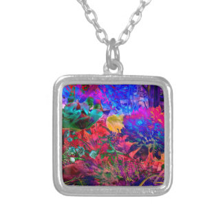 Floral Dream OF buzzer Silver Plated Necklace
