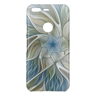 Floral Dream Pattern Abstract Blue Khaki Fractal Uncommon Google Pixel Case