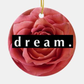 Floral Dream Round Ceramic Ornament