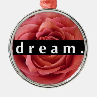 Floral Dream Silver-Colored Round Ornament