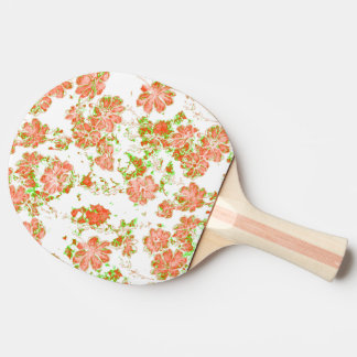 floral dreams 12 D Ping Pong Paddle