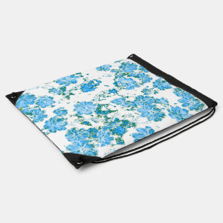 floral dreams 12 E Drawstring Bag