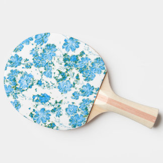 floral dreams 12 E Ping Pong Paddle