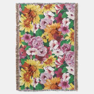 Floral Dreams #1 at Susiejayne Throw Blanket