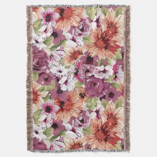 Floral Dreams #3 at Susiejayne Throw Blanket