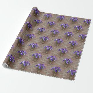 Floral Dutch Clog Purple Blue White Violet Wall