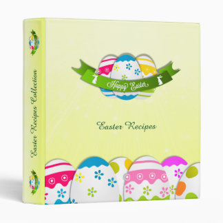 Floral Easter Eggs and Easter Wish 3 Ring Binders