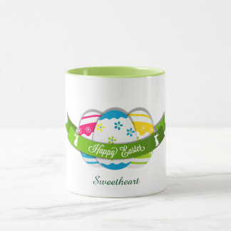 Floral Easter Eggs and Easter Wishes Mug