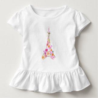 Floral eiffel tower toddler t-shirt