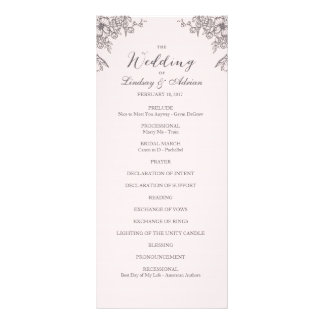 Floral Elegance Wedding Program
