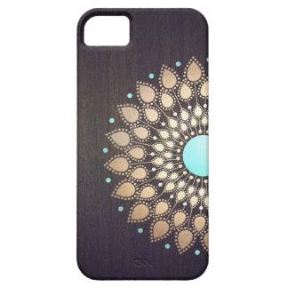 Floral élégant en bois élégant de fleur de Lotus Coque iPhone 5 Case-Mate