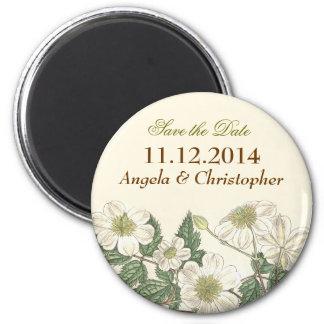 floral elegant save the date magnets