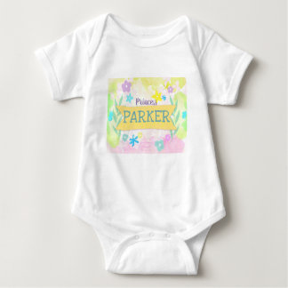 Floral Element Baby Garment Baby Bodysuit
