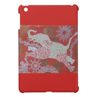 floral elephant i-pad mini case iPad mini case