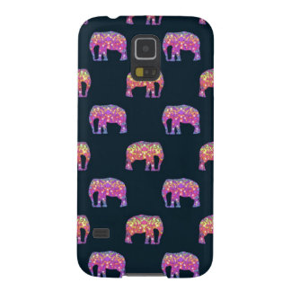Floral Elephants Cute Girly Pattern Galaxy S5 Covers