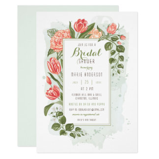 Floral Embrace Bridal Shower Invitation