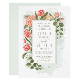 Floral Embrace Wedding Invitation