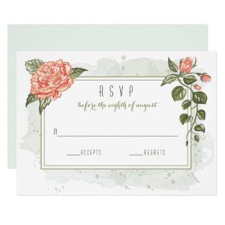 Floral Embrace Wedding RSVP Card