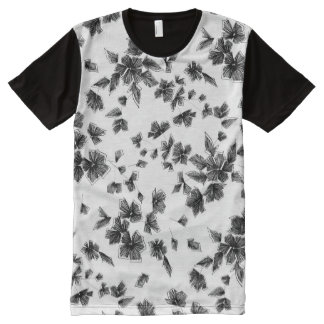 Floral embroidery All-Over-Print T-Shirt
