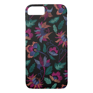 Floral embroidery iPhone 8/7 case