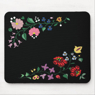 Floral embroidery mouse pad
