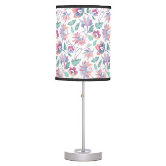 Floral embroidery table lamp