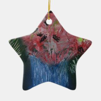 Floral Exhibition Exhibit Ceramic Star Ornament