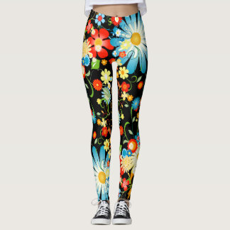 Floral Explosion of Color Leggings