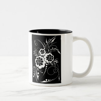 Floral explosion… Two-Tone coffee mug