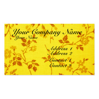 Floral Fabric Business Card Template
