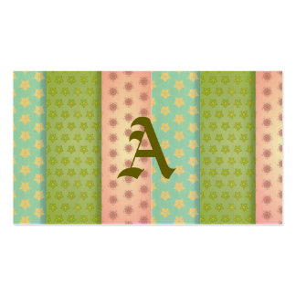 Floral fabric patchwork retro trendy girly shabby pack of standard business cards