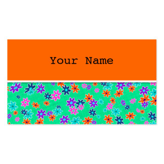 Floral Fabric Seamless Pattern colored Business Card