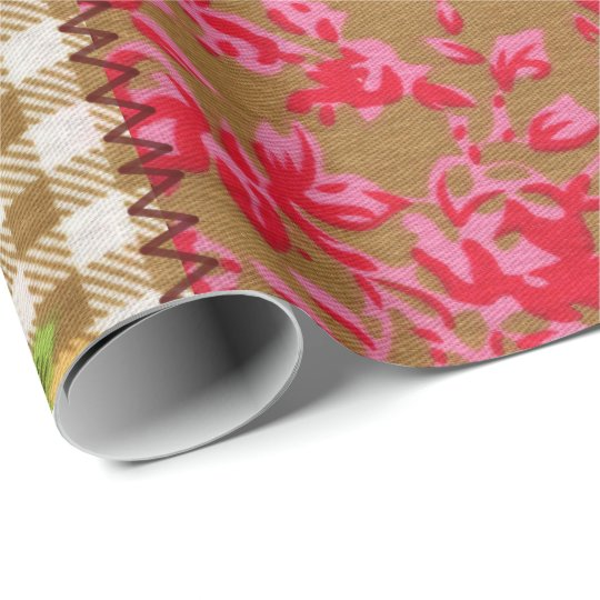 Floral Fabric Wrapping Paper