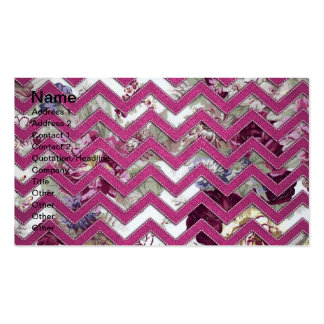 Floral Fabric Zig Zag Pack Of Standard Business Cards