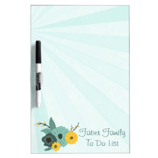 Floral Family To Do List Dry Erase Board