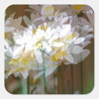 Floral Fantasies Square Sticker