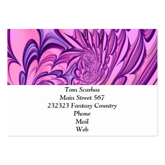 Floral Fantasy 02 pink Pack Of Chubby Business Cards
