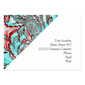 Floral Fantasy 04 aqua Pack Of Chubby Business Cards