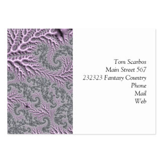 floral fantasy 05 lilac pack of chubby business cards