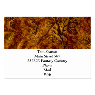 floral Fantasy 07 golden Pack Of Chubby Business Cards