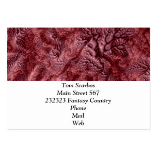 floral Fantasy 07 red Pack Of Chubby Business Cards